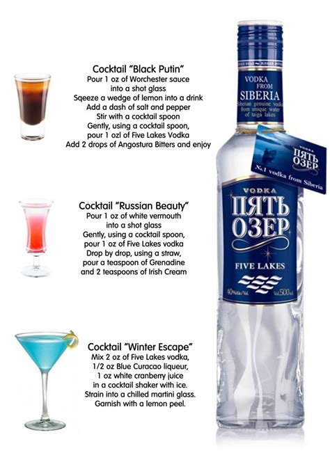 cocktail recipes vodka 5 lakes vodka cocktails fbworld com