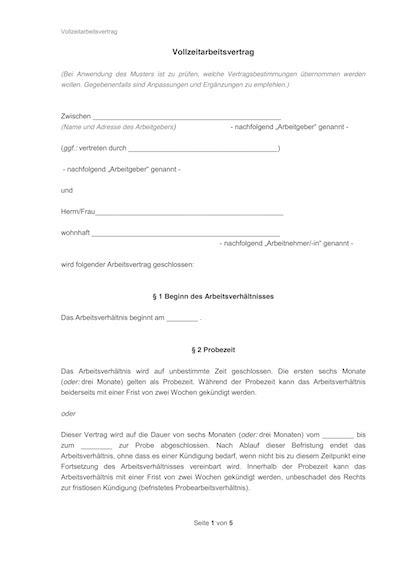 Arbeitsbestätigung für angestellte vordruck : Befristeter Arbeitsvertrag Mit Sachgrund Muster Kostenlos