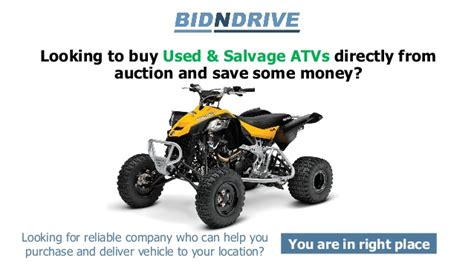 Rebuilt Vs Salvage by Used Salvage Atv S Auction Bid N Drive