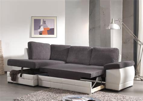 canapé blanc angle canapé d 39 angle contemporain convertible en tissu coloris