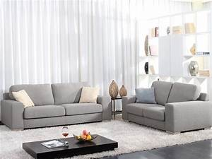 Canapé Gris Clair Convertible : photos canap gris clair tissu ~ Teatrodelosmanantiales.com Idées de Décoration