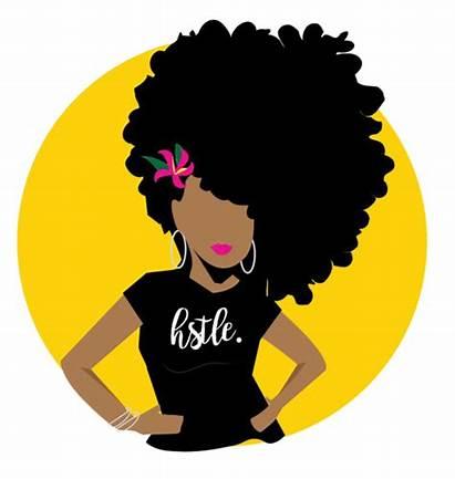 Salon Clipart Natural Stylist Woman Logos Drawing