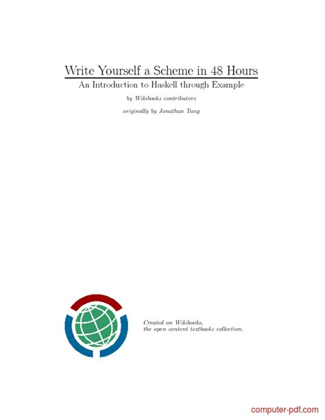pdf write yourself a scheme in 48 hours free tutorial for beginners
