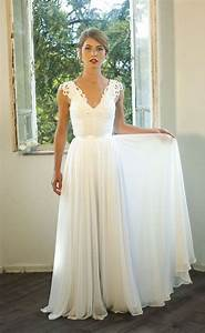 romantic vintage inspired wedding dress custom made With classic white wedding dress