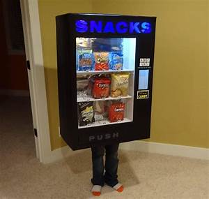 Kid Dresses Up as a Vending Machine and Other Inanimate
