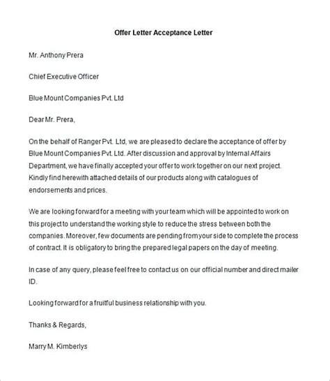 offer letter   write   document