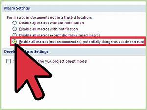 How To Enable Macros In Microsoft Word  7 Steps  With