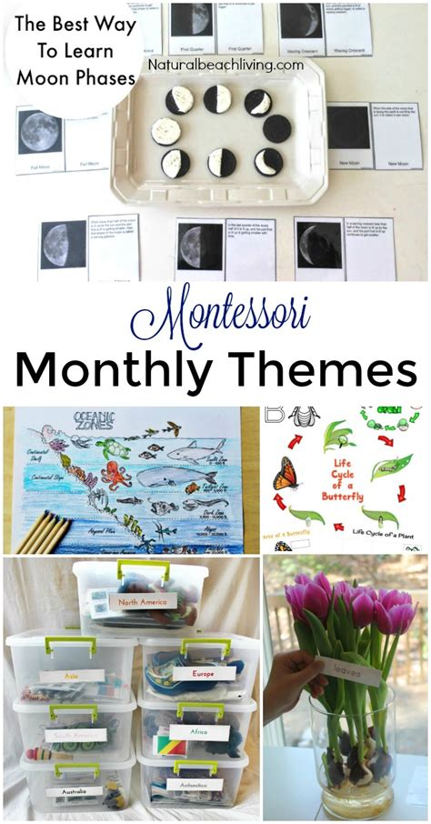montessori themes preschool activities for april 987 | Montessori monthly themes pin