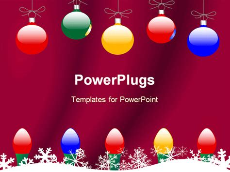 powerpoint template christmas theme  colorful globes