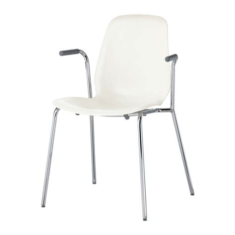 chaise ikea blanche leifarne chair with armrests ikea