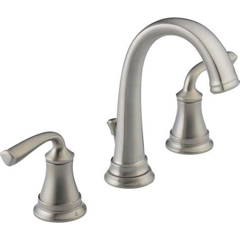 widespread bathroom sink faucet shop delta lorain stainless 2 handle widespread bathroom