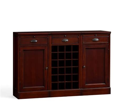 pottery barn wine cabinet modular bar buffet with 2 cabinet bases 1 wine grid base