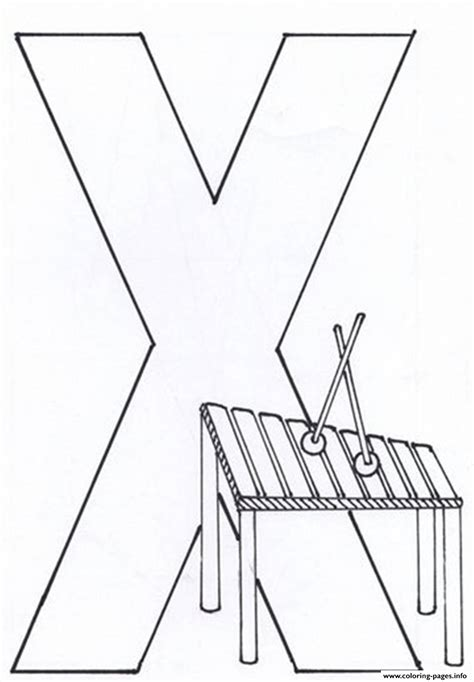 letter x for xylophone alphabet s2d99 coloring pages printable