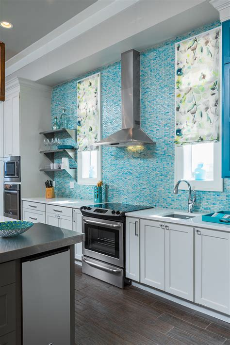 turquoise tile backsplash in detail interiors house of turquoise