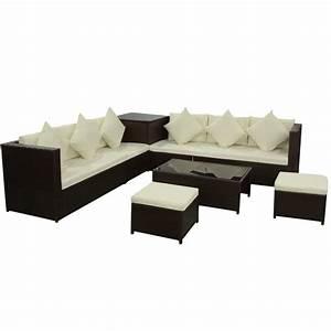 Gartenmöbel Sitzgruppe Rattan Lounge : 8 tlg poly rattan gartenm bel gartengarnitur gartenset sitzgruppe sofa lounge ~ Sanjose-hotels-ca.com Haus und Dekorationen