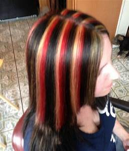 Black Hair With Red Highlights | Related For Dark Brown ...