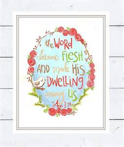 Christmas Bible Verse Art