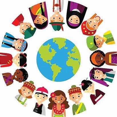 Vector Multicultural Children Global Illustration Illustrations National
