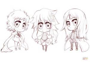 Anime Chibi Characters By Gabriela Gogonea Coloring Page