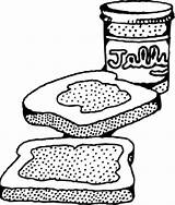Coloring Peanut Butter Jelly Jar Majuu sketch template