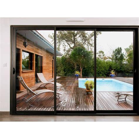 prix baie vitrée coulissante 3m baie coulissante 3 vantaux pas cher sur mesure prix direct