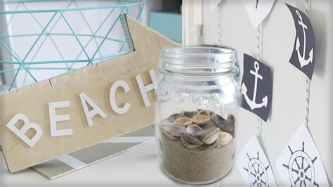 diy beach themed room decor youtube