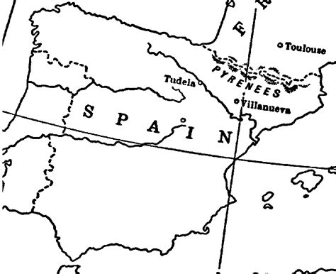 detail  map  spain  iberia