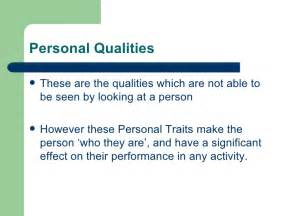 personal qualities for pe physical and personal qualities