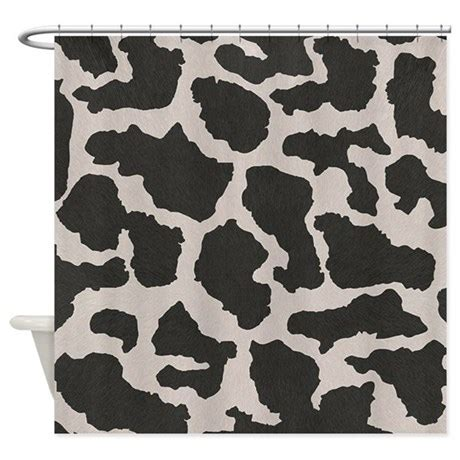 Cowhide Shower Curtain by Cowhide Cow Pattern Shower Curtain By Madeulaugh