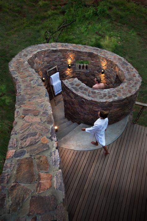 Romantic Outdoor Private Showers