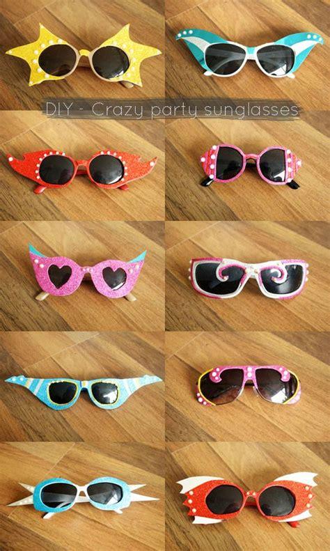 diy crazy party sunglasses diy sunglasses party