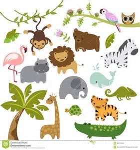 Cute Baby Zoo Animals Clip Art