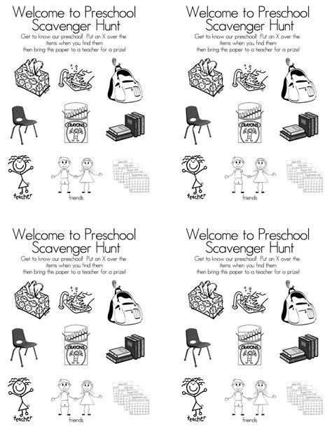 preschool scavenger hunt ideas preschool open house free printable scavenger hunt open 504