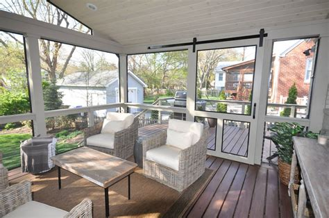 this is our fabulous new screened porch we had the door