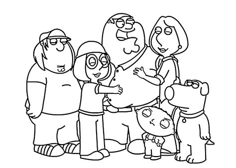 family guy  coloring pages  kids printable