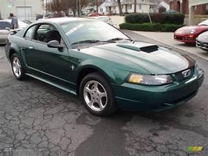 2003 Tropic Green Metallic Ford Mustang V6 Coupe #12683939 Photo #5 | GTCarLot.com - Car Color ...