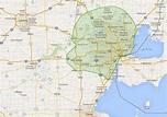 Michigan Map With Ann Arbor - AHSS