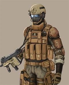 Futuristic Warrior Art   future soldier concept art by ...