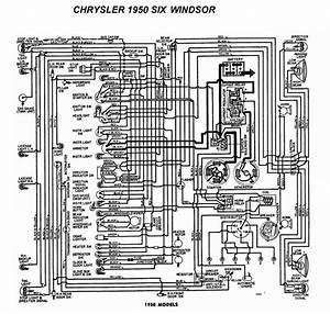 Electrical Wiring Diagram 1950 Chrysler Windsor - Electrical
