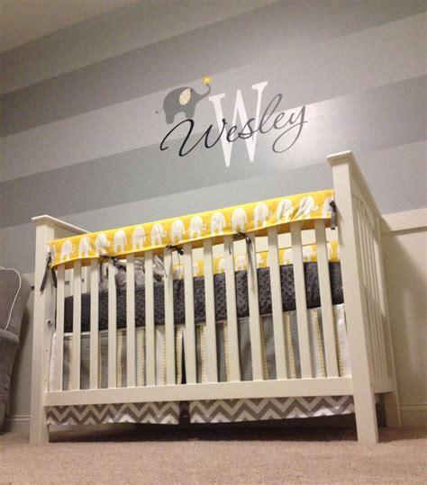 Wesley's Yellow and Gray Elephant Nursery   Project Nursery