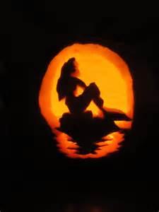Ariel Pumpkin Carving Pattern by Little Mermaid Pumpkin My Parties Pinterest