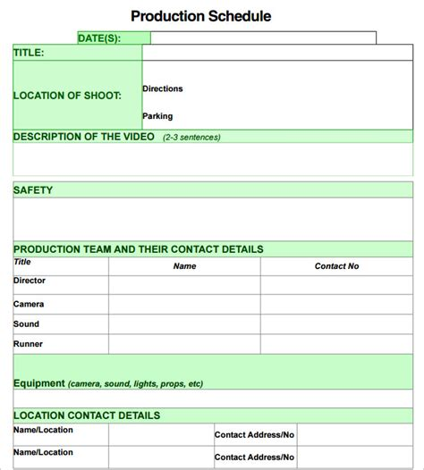 production plan template 13 production schedule templates pdf doc free premium templates