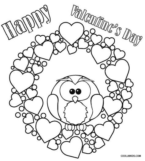 Coloring Valentines by Printable Coloring Pages For Cool2bkids