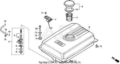 honda eb5000x a generator jpn vin ea7 3000001 parts diagram for em eb fuel tank