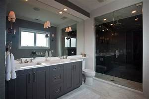 gray bathroom cabinets contemporary bathroom michael With best brand of paint for kitchen cabinets with bathroom wall art sets