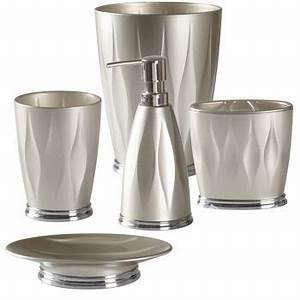 Umbra 5 pc meta bathroom accessory set costco toronto for Umbra bathroom accessories