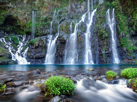 langer river falls lakes reunion island famous