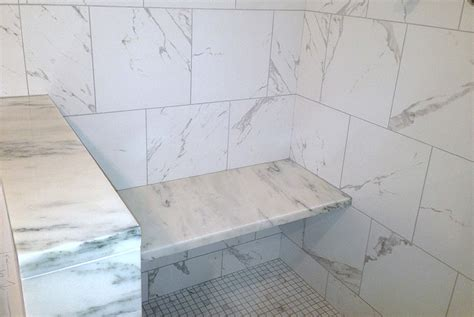 subway tile shower bench shower jambs gta countertops