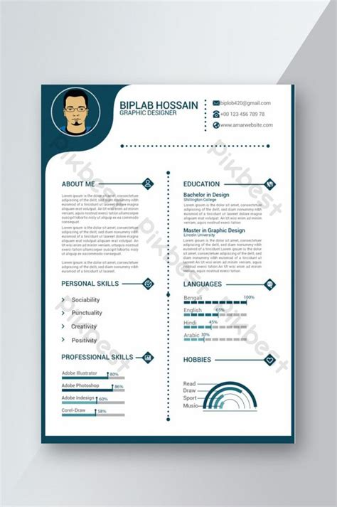 modern professional cv resume ai template word