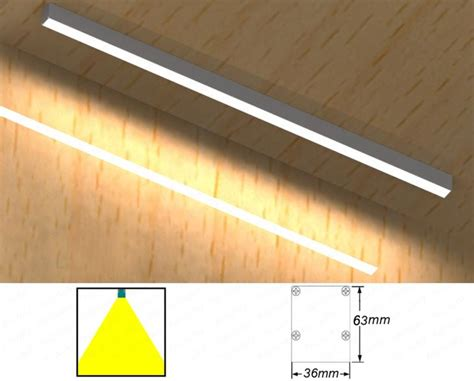 24w48w high brightness led linear light surface mounted